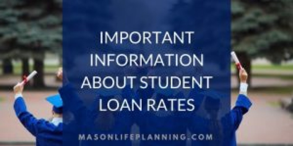 Important Information About Student Loan Rates